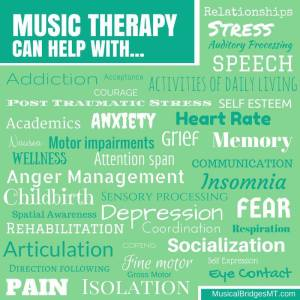 music therapy can help with