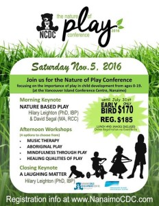 Nature of Play 2016 Conference